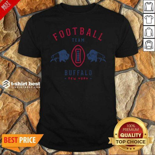 Cool Modern Buffalo Bills Retro Team Crest Shirt - Design By 1tees.com