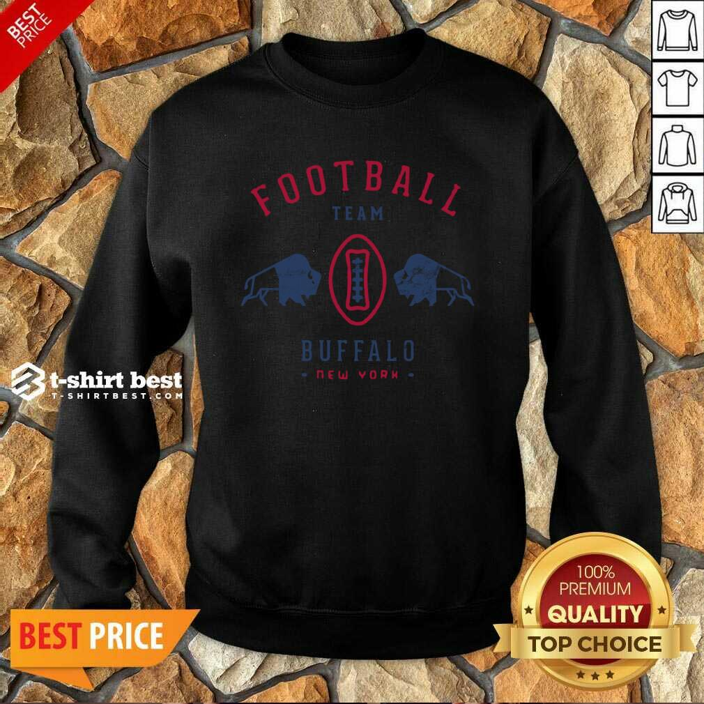 Cool Modern Buffalo Bills Retro Team Crest Sweatshirt - Design By 1tees.com