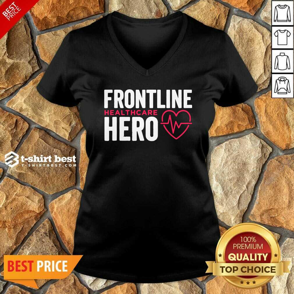 Frontline Hero Healthcare Worker V-neck - Design By 1tees.com