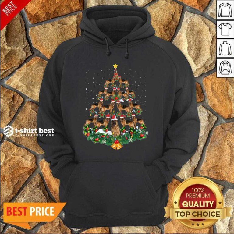 German Shepherd Dog Christmas Tree Hoodie - Design By 1tees.com