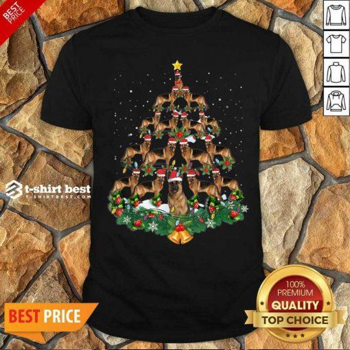 Top German Shepherd Dog Christmas Tree Shirt - Design By 1tees.com