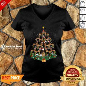 German Shepherd Dog Christmas Tree V-neck - Design By 1tees.com
