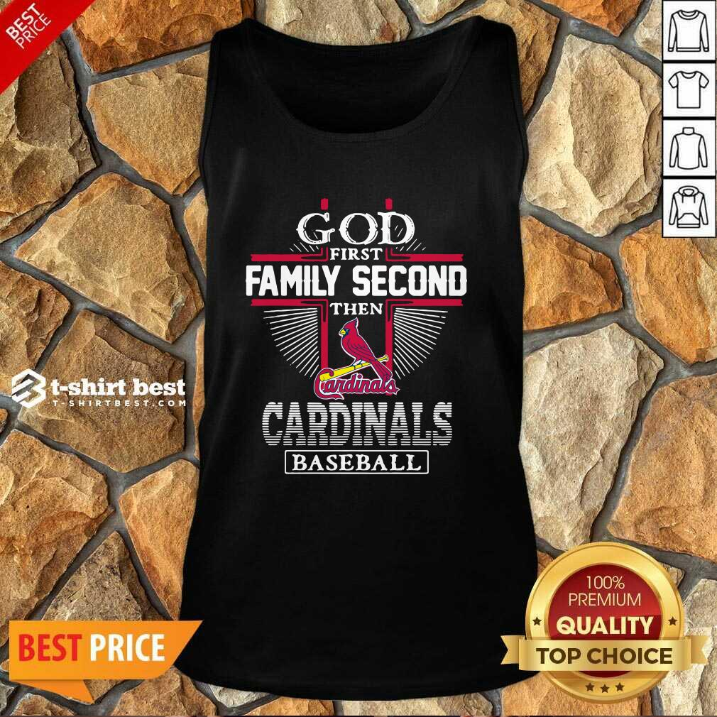 God First Family Second Then St Louis Cardinals Football Tank Top - Design By 1tees.com
