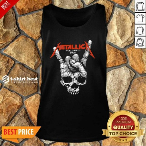 Hair Metallica Worldwired Tour Tank Top - Design By 1tees.com