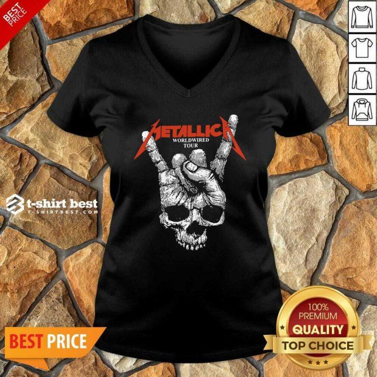 Hair Metallica Worldwired Tour V-neck - Design By 1tees.com