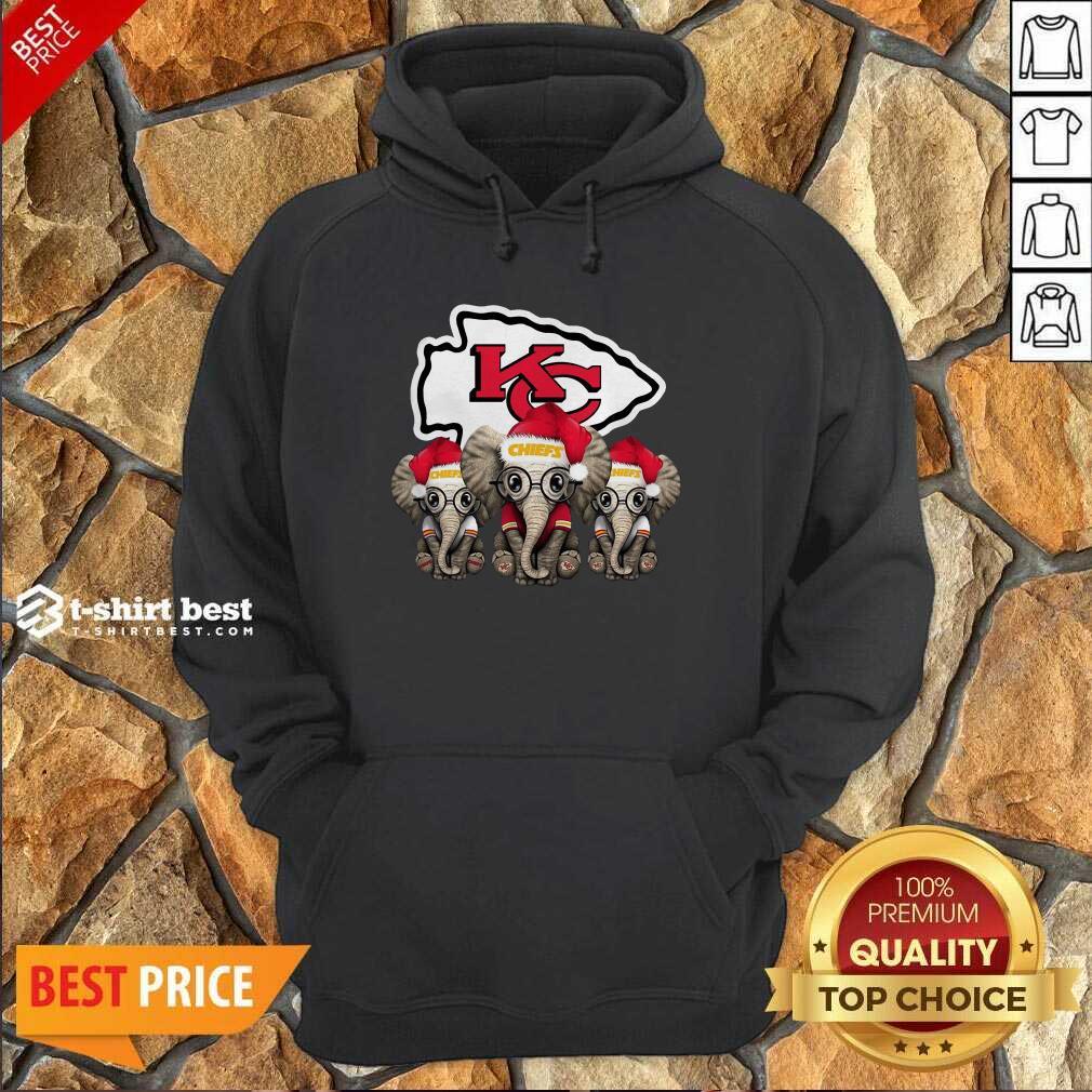 Kansas City Chiefs Elephant Christmas Hoodie - Design By 1tees.com