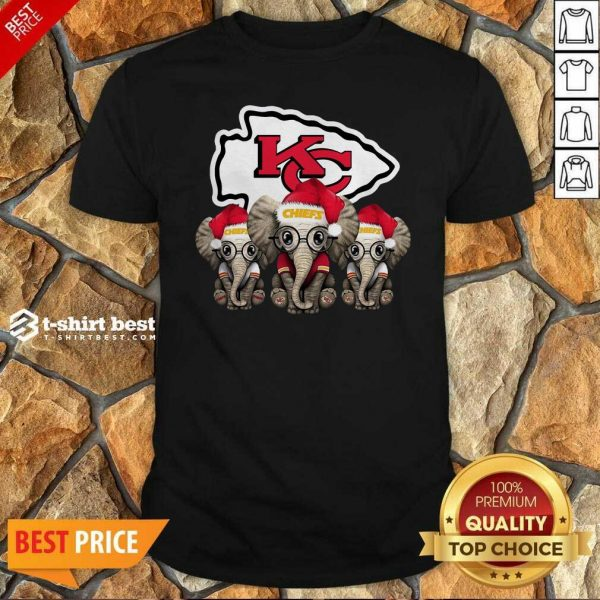 Kansas City Chiefs Elephant Christmas Shirt - Design By 1tees.com