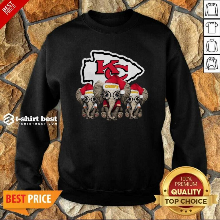 Kansas City Chiefs Elephant Christmas Sweatshirt - Design By 1tees.com