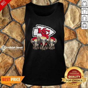 Kansas City Chiefs Elephant Christmas Tank Top - Design By 1tees.com
