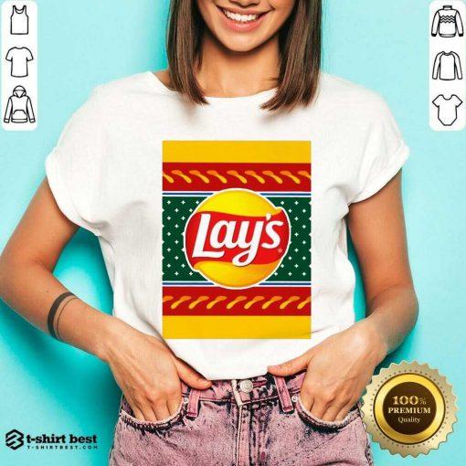 Logo Lays Christmas 2020 V-neck - Design By 1tees.com