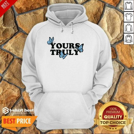 Phora Merch Yours Truly Butterflies White Hoodie - Design By 1tees.com