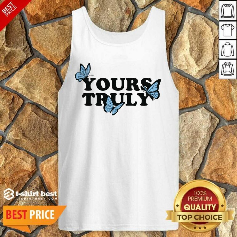Phora Merch Yours Truly Butterflies White Tank Top - Design By 1tees.com
