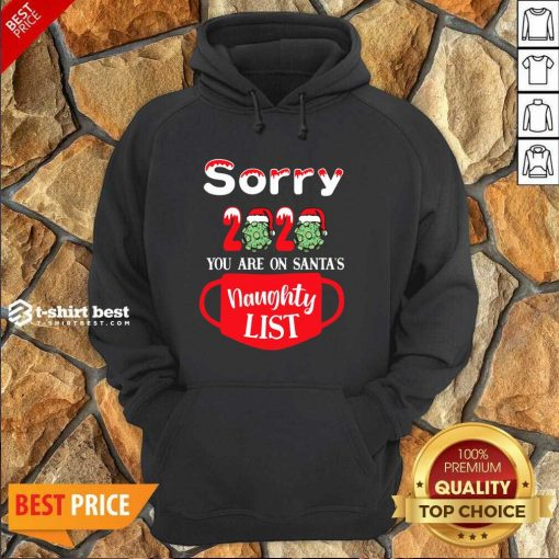 Sorry 2020 You Are On Santas Naughty List Hoodie - Design By 1tees.com