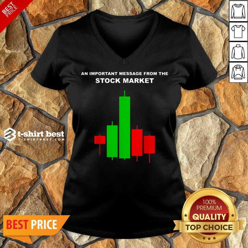 Stock Market Trade V-neck - Design By 1tees.com