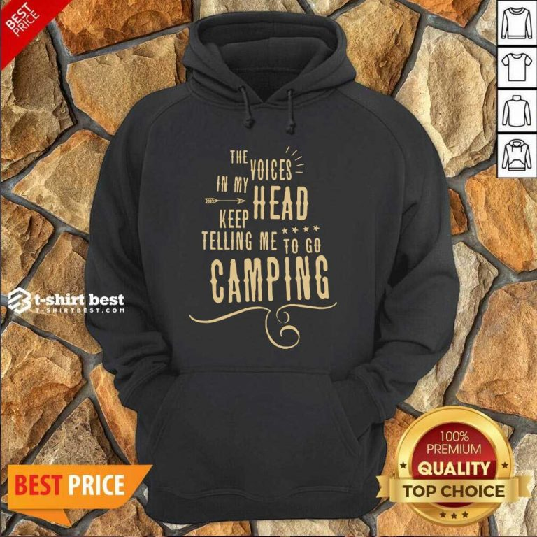 The Voices Head Keep Telling Me To Go Camping Hoodie - Design By 1tees.com