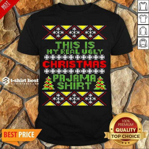 Top This Is My Christmas Pajama Shirt Ugly Christmas Shirt- Design By 1tees.com