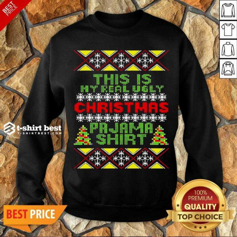 This Is My Christmas Pajama Shirt Ugly Christmas Sweatshirt - Design By 1tees.com