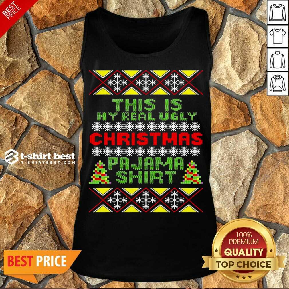 This Is My Christmas Pajama Shirt Ugly Christmas Tank Top - Design By 1tees.com