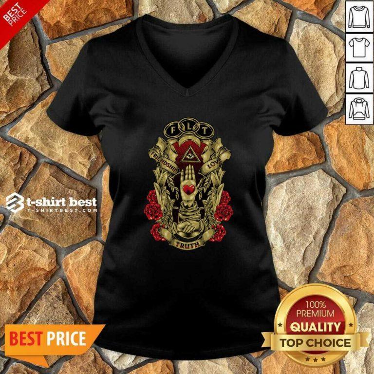 FLT Friendship Love Truth V-neck - Design By 1tees.com