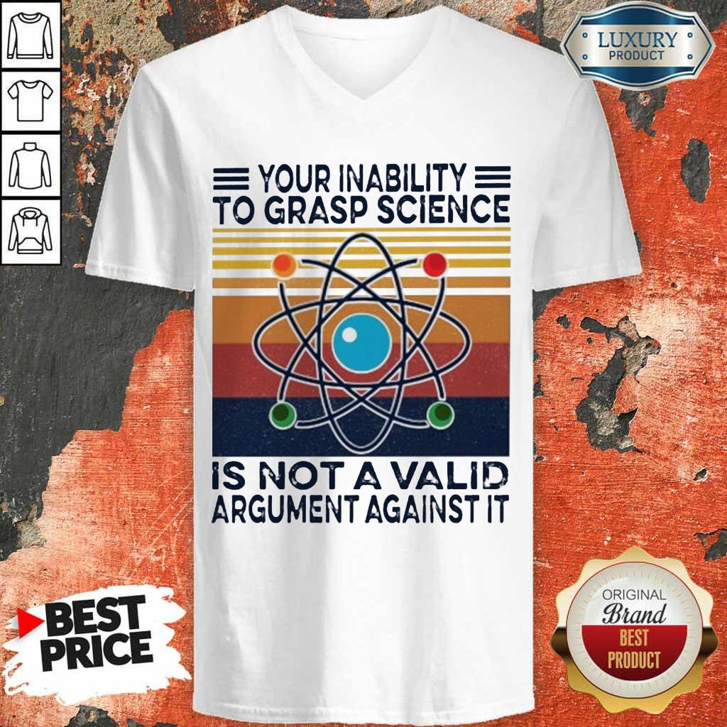 Bewildered Grasp Science Is Not A Valid Argument Against 2 V-neck