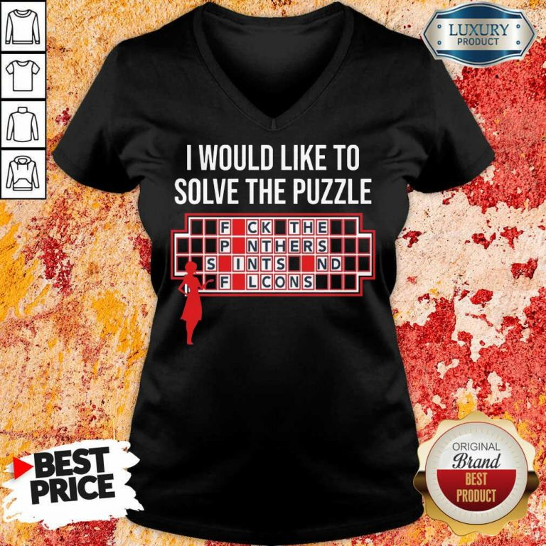Depressed I Would Like To Solve 3 The Puzzle V-neck - Design by T-shirtbest.com
