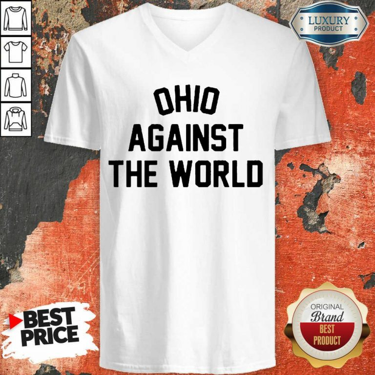 Excited OHIO Against The World 5 V-neck - Design By T-Shirtbest.com