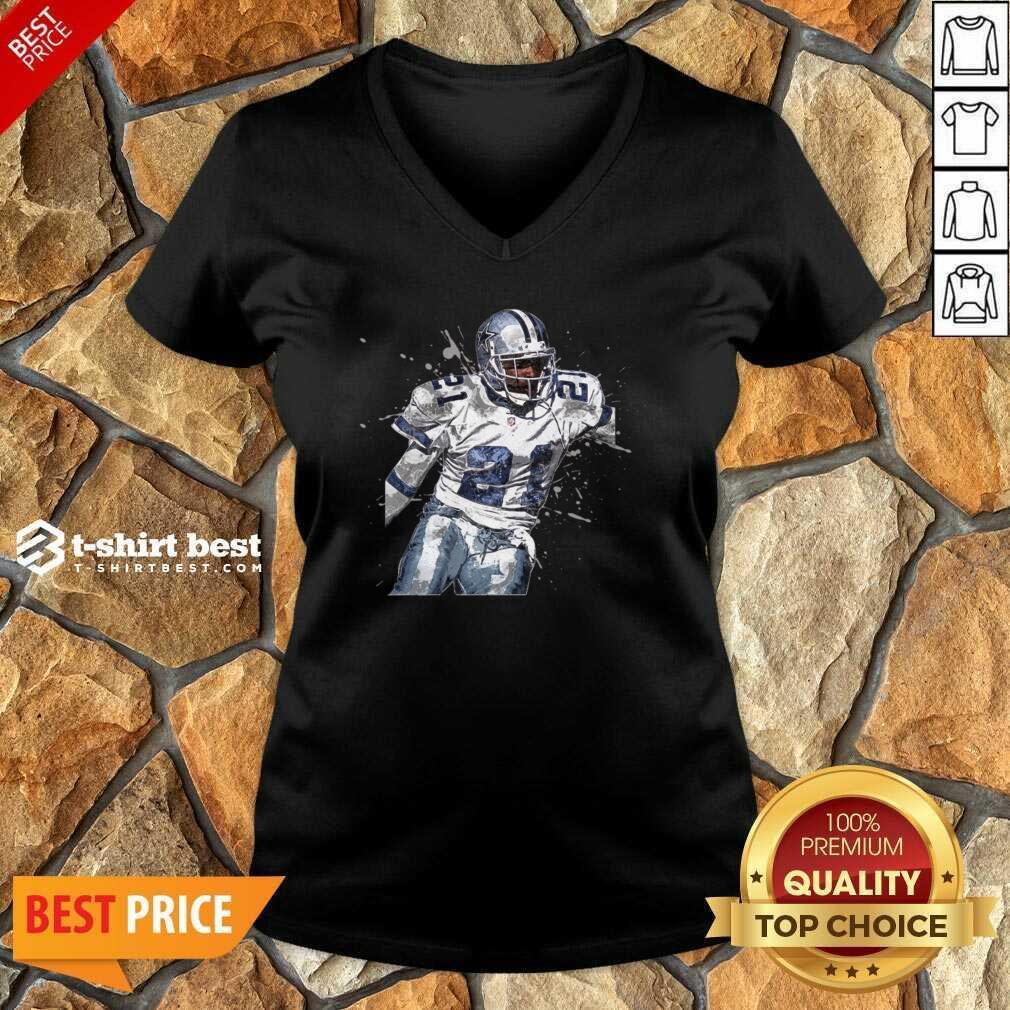 Dallas Cowboys Football Players 21 NFL Playoffs V-neck - Design By 1tees.com