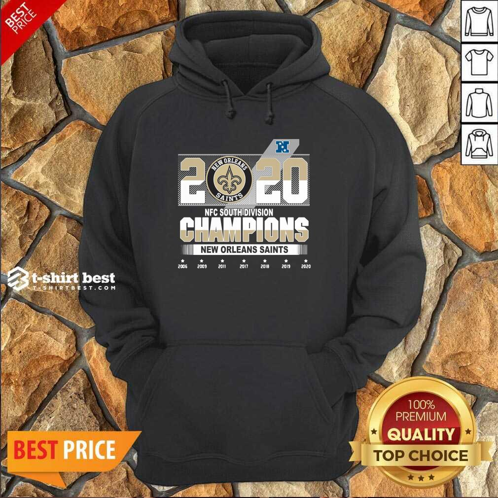 2020 Afc North Division Champions New Orleans Saints 2008 2009 2011 2017 Hoodie - Design By 1tees.com