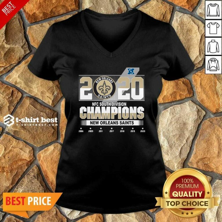2020 Afc North Division Champions New Orleans Saints 2008 2009 2011 2017 V-neck - Design By 1tees.com