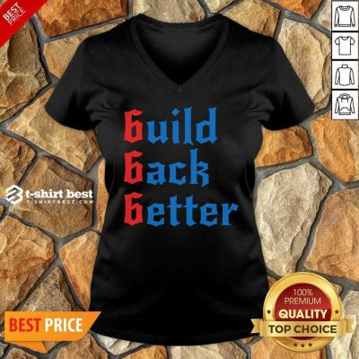 Build Back Better 666 Anti Globalist V-neck - Design By 1tees.com