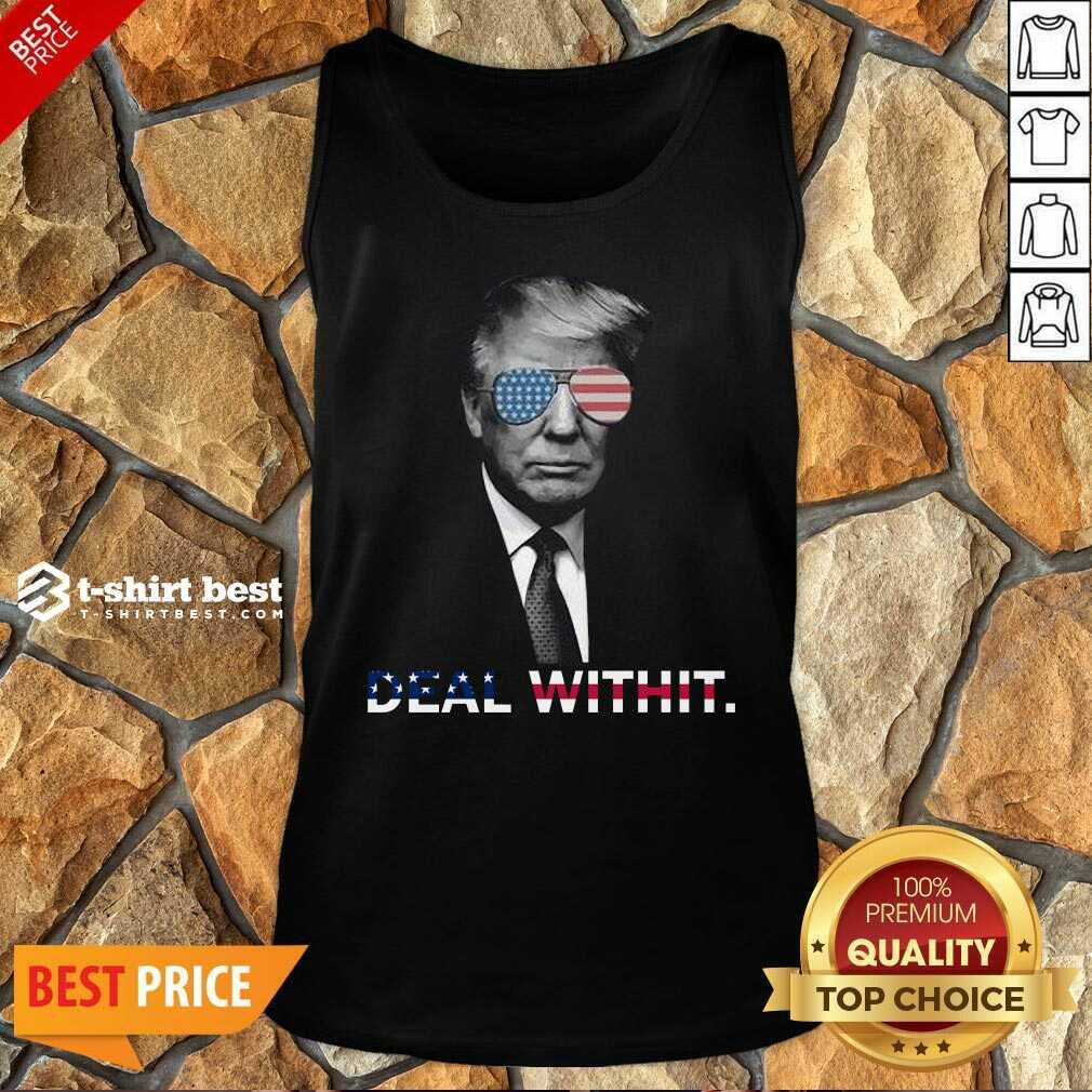 Donald Trump Deal Withit American Flag Tank Top - Design By 1tees.com