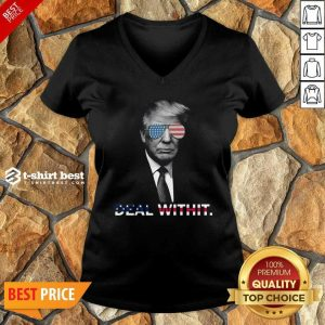 Donald Trump Deal Withit American Flag V-neck - Design By 1tees.com