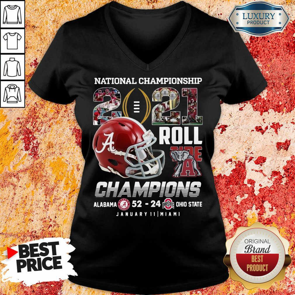 Great Roll Tide Champions Alabama 52 24 Ohio V-neck