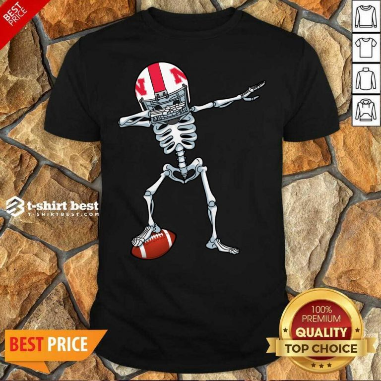 Skeleton Dabbing Nebraska Cornhuskers Shirt - Design By 1tees.com