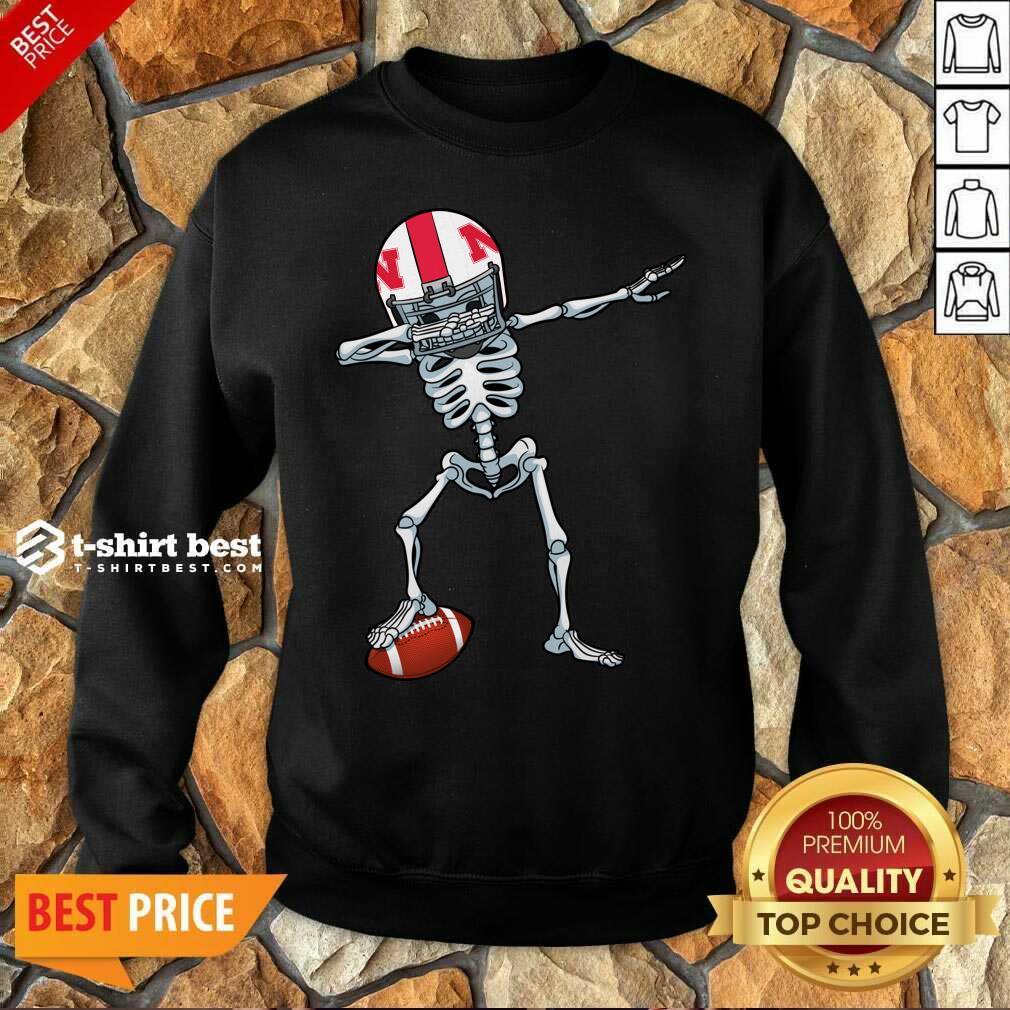 Skeleton Dabbing Nebraska Cornhuskers Sweatshirt - Design By 1tees.com