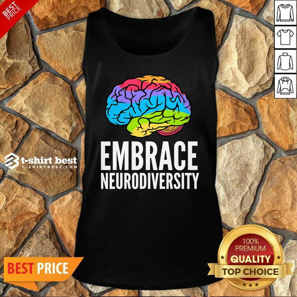 Embrace Neurodiversity Brain Adhd Autism Asd Awareness Tank Top - Design By 1tees.com