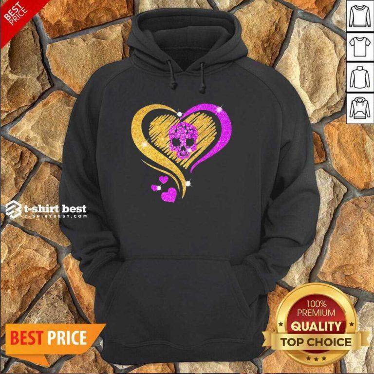 Skull Heart Bling Hoodie - Design By 1tees.com