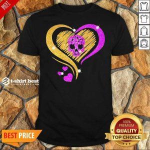 Skull Heart Bling Shirt - Design By 1tees.com
