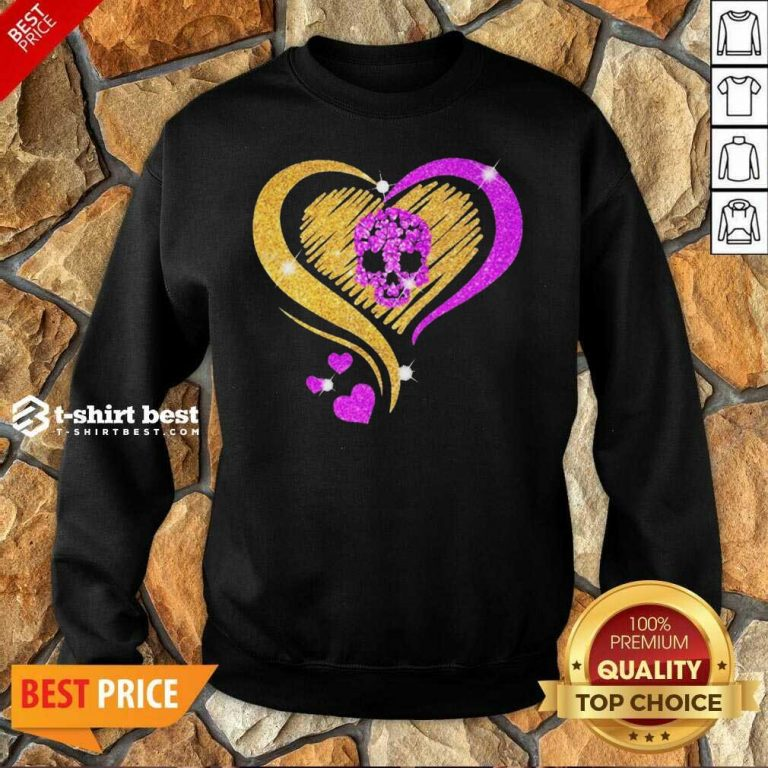Skull Heart Bling Sweatshirt - Design By 1tees.com
