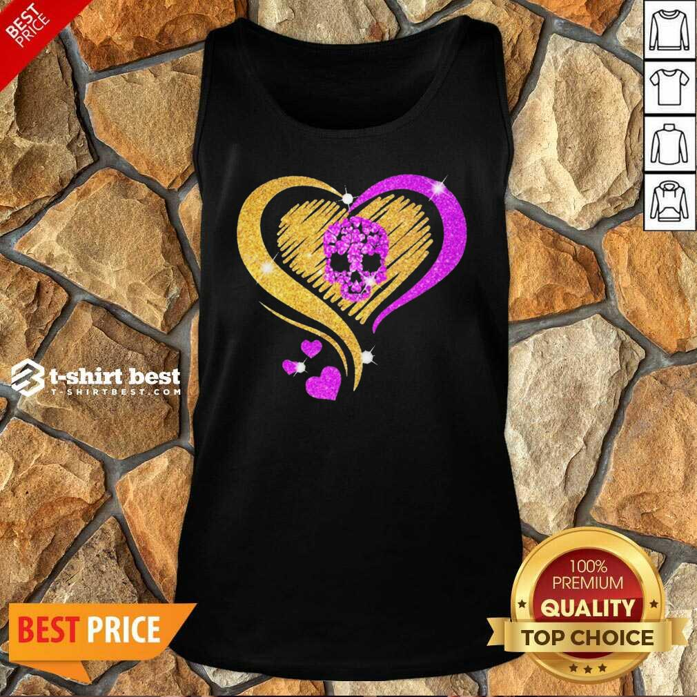 Skull Heart Bling Tank Top - Design By 1tees.com