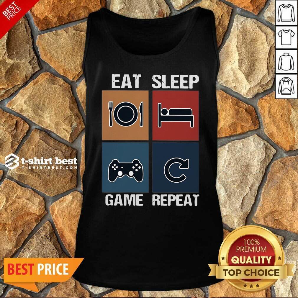 Eat Sleep Game Repeat Vintage Tank Top - Design By 1tees.com