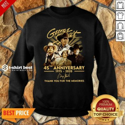 George Strait 45th Anniversary 1975 2020 Thank You For The Memories Signature Hoodie - Design By 1tees.com