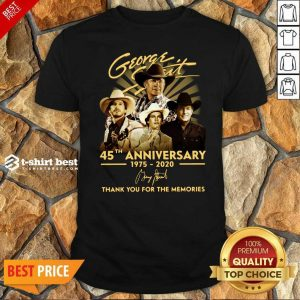 George Strait 45th Anniversary 1975 2020 Thank You For The Memories Signature Shirt - Design By 1tees.com