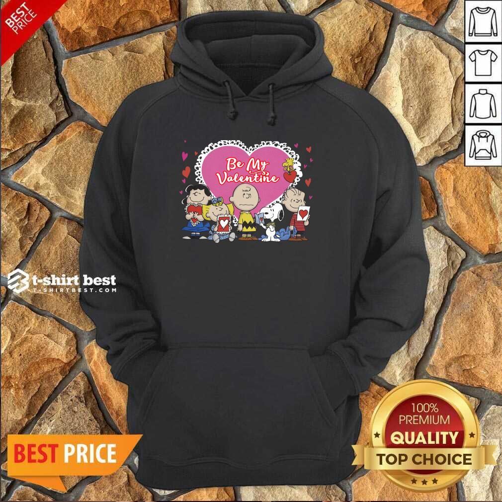 The Peanuts Be My Valentine Hoodie - Design By 1tees.com