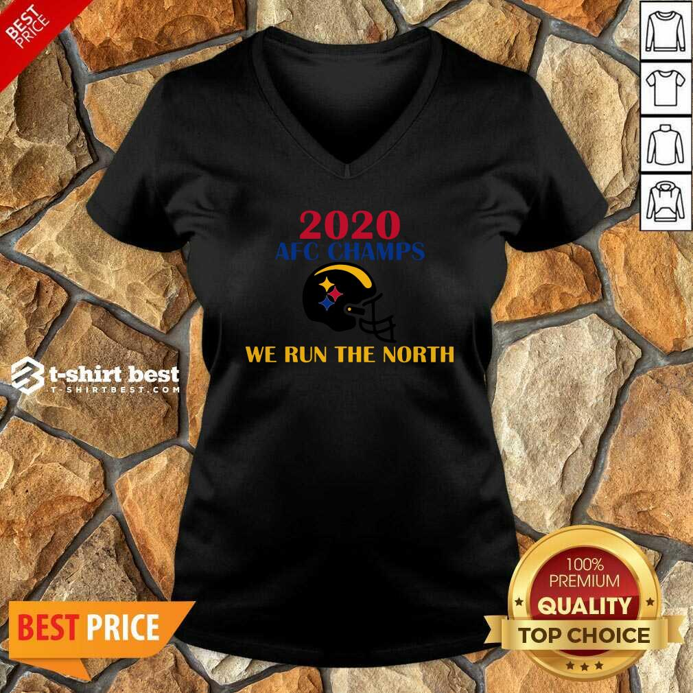 2020 Afc Champs Pittsburgh Steelers Football We Run The North V-neck - Design By 1tees.com