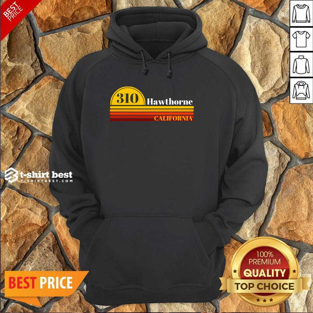 310 Hawthorne California Vintage Sunset With Area Code Hoodie - Design By 1tees.com
