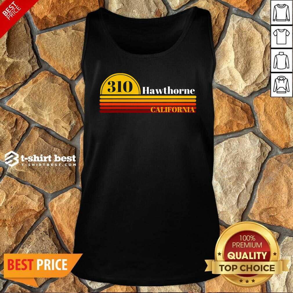 310 Hawthorne California Vintage Sunset With Area Code Tank Top - Design By 1tees.com