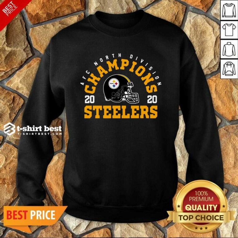 Afc North Division Champions 2020 Pittsburgh Steelers Sweatshirt - Design By 1tees.com