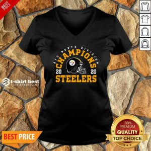 Afc North Division Champions 2020 Pittsburgh Steelers V-neck - Design By 1tees.com