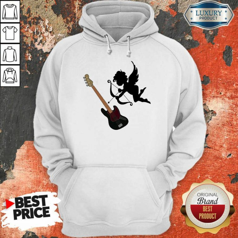 Reluctant Cupid Angles 1 Guitar Hoodie - Design by T-shirtbest.com